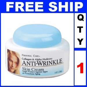 NEW 1 Jar PERSONAL CARE ANTI-WRINKLE SKIN Cream Protect Aging Exp 2012 (8oz/Jar)