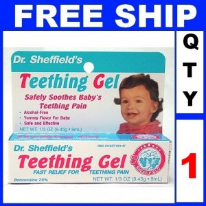 NEW 1 Tube Dr Sheffields Baby Infant TEETHING GEL Pain Medicine (1/3oz/Tube)