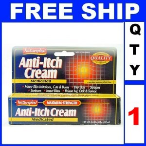 NEW 1 Tube Natureplex ANTI ITCH Cream Cut Burn (1.5oz/Tube)