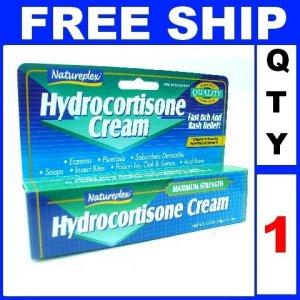 NEW 1 Tube Natureplex 1% HYDROCORTISONE Anti Itch Cream Skin Rash (1oz/Tube)