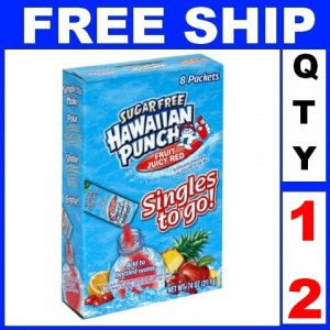 New 12 packs Hawaiian Punch To Go, Fruit Juicy Red, 8-Count Packets