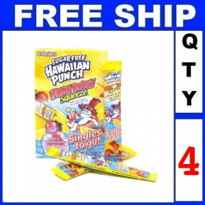 New 4 packs Hawaiian Punch To Go, Lemon Berry Squeeze, 8-Count Packets EXP:2014
