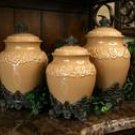 3 Piece Canister Set Butterscotch