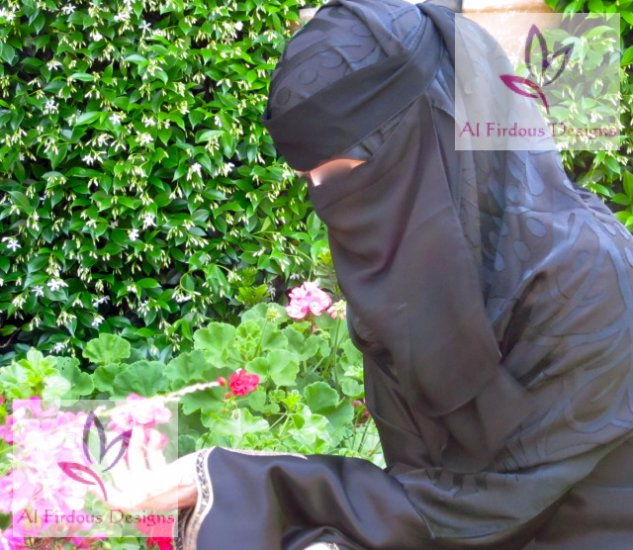 String niqab - 2 layers