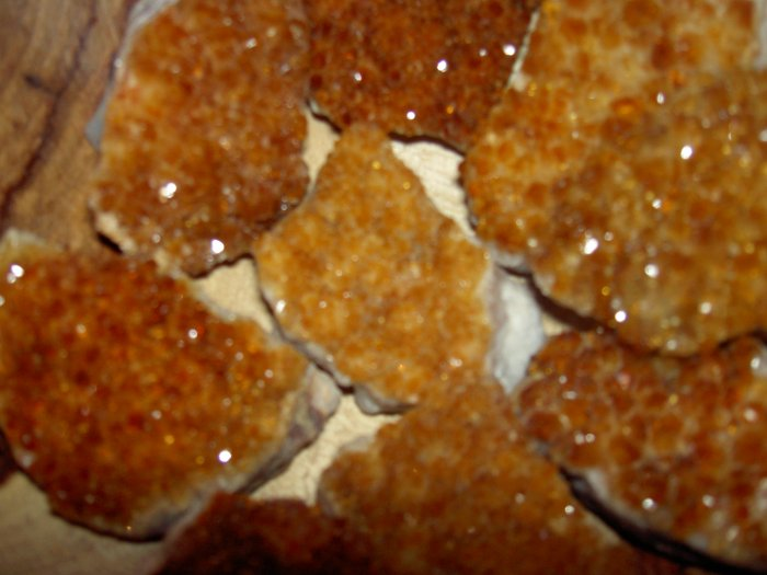 Citrine chunks - for manifesting abundance, grounding and creativity