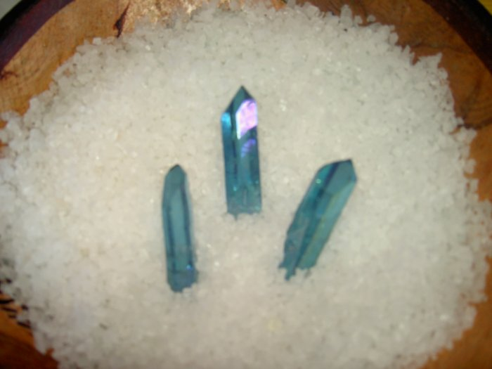 Aqua Aura - potent stone! For increasing psychic skills, meditation and telepathy