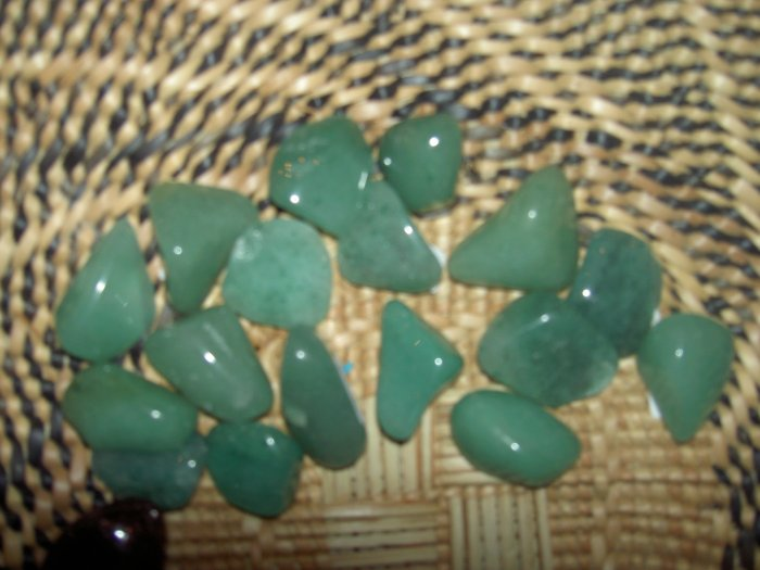 Green Aventurine - for prosperity, imagination, headaches and sleep disorders