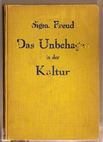 Das Ungehagen in der Kultur by Sigmund Freud, 1930 edition, cloth binding