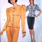 Very Easy Vogue 7833 power suite pattern sizes 18-22, dated 1990