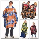 McCall's M5771 or 5771 Team spirit tailgating pattern for ponchos, mittens, tote backpack.