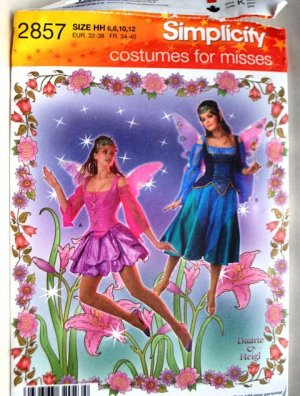 Simplicity 2857 fairy costumes pattern sizes 6-12 Duarte & Heigl
