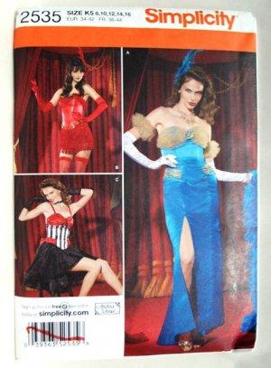 Simplicity 2535 pattern for saloon, burlesque, vaudeville costumes size 8-14