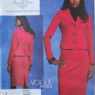 Vogue v1126 or 1126 pattern by Tracy Reese pleated jacket, skirt suit size 8-14 .