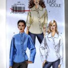 Vogue V8515 or 8515 pattern for asymmetrical button down shirts, sizes 18-24 .