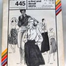 Stretch & Sew 445 pattern for straight, A-line and dirndl skirts .