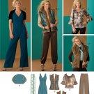 Simplicity 2476 Retro fur trimmed vest, knicker pants, jumpsuit, etc pattern sizes 4-12.