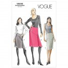 Vogue pattern V8518 or 8518 Asymmetrical skirts, sizes 14-20 .