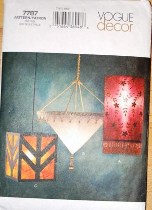 Vogue Decor sewing pattern 7787 for lamps, Mission or Arts and Crafts style
