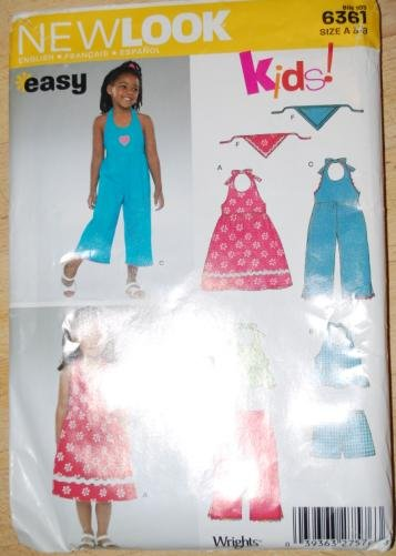 New Look kids' pattern 6361 size 3-8 . Jumpers, dresses, head scarves.