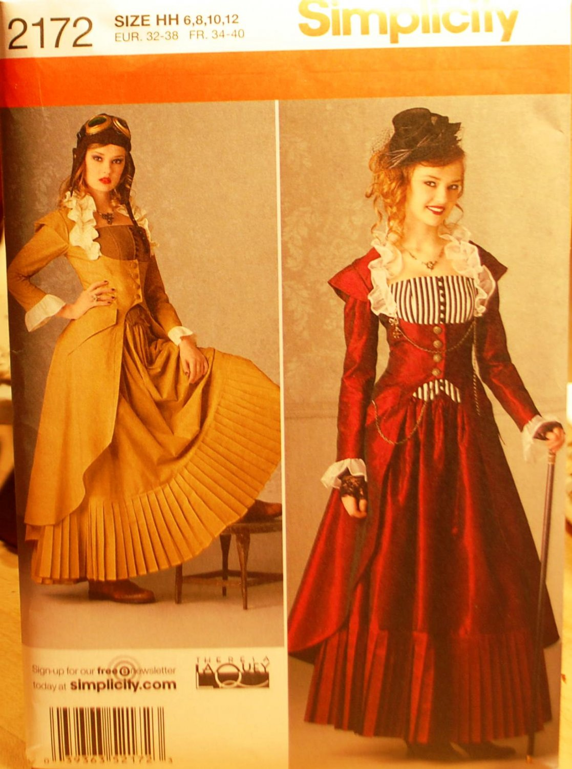 Simplicity 2172 pattern for Steampunk or Victorian dress ...