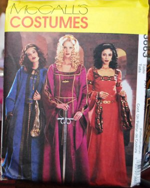 McCall's Costumes 3663 Medieval gowns and capes pattern sizes 6-12