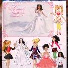 Simplicity 0382 1955 Kate Middleton Barbie Bratz Moxie doll wedding dress pattern
