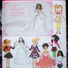 Simplicity 1955 Kate Middleton Barbie Bratz Moxie dolls wedding dress pattern