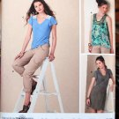 Simplicity 2261 detailed asymmetrical skirt, cargo pants, tops sizes 6-14