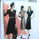 Butterick 5281 B5281 Retro '46 button asymmetrical dress pattern size 6-12