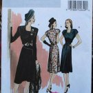 Butterick B5281 Retro '46 button asymmetrical dress pattern size 14-22