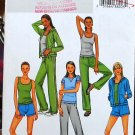 Butterick 4198 b4918 pattern for exercise gym yoga wear size L-XL.