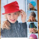 Simplicity pattern 1959 for Boho fleece hats in S,M,L