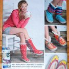 Simplicity pattern 1958 retro Scandinavian house slipper boots in S,M,L by Lindsay Mason Couture