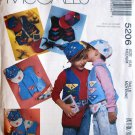 McCall's 5206 pattern for kids' vests, cap, fanny pack size medium (5,6) by Jean Wells