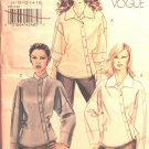 Very Easy Vogue V8515 8515 asymmetrical shirts pattern, sizes 8-16 .