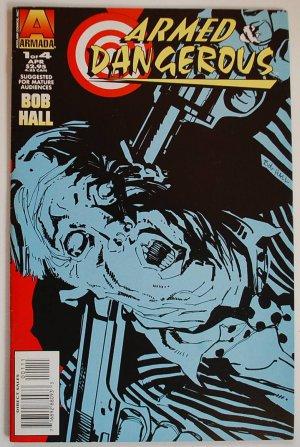 Bob Hall comic Armed & Dangerous 1-3 of 4 plus Special 1 of 1, Armada Comics