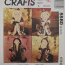 McCall'sCrafts 5580 Father Christmas dolls 21 inches