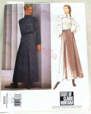 Vogue 2230 pattern State of Claude Montana Steampunk outfit