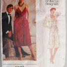 Vogue 2589 Scott Barrie 1970s 1980s designer dress and jacket pattern size 14