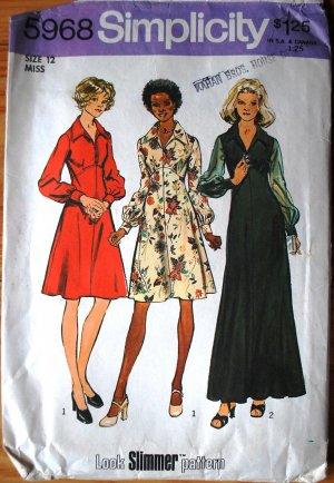 Simplicity 5968 vintage 1973 Look Slimmer pattern dresses for Loretta Lynn or the Black Belles