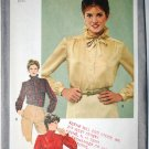 Simplicity 9713 blouses pattern size 12, ruffles, detachable jabot 1980s
