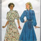 Vintage Simplicity 8335 pattern for piping detail puffed sleeved prairie dresses bust 34 inches