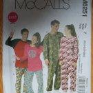 McCall's M6251 or 6251 pattern unisex raglan sleeve union suits, pajamas, sleepwear, sizes xsm-med