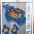 Burda 9931 craft pattern for baby hippo floor mat, 53.25 x 39.5 inches