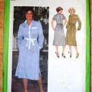 Vintage 1979 Simplicity 9017 pattern for 1970s shirt dress, tie belt. 1980s, size 10