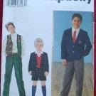 Simplicity 8966 boy's pattern for prep school jacket, vest, Bermuda shorts and pants size 7-12