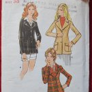 Butterick 6390 vintage 1970s pattern blazers, wide lapels, lacks instructions