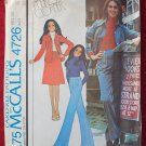 McCall's 4726 vintage 1975 pattern Marlo's Corner shirt jacket, skirt and pants, bust 34 inches