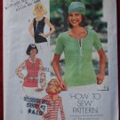 Simplicity 7293 vintage 1975 How To Sew Pattern. Knit shirts, medium size 12-14 bust 34-36 inches
