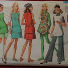 Simplicity 8151 vintage 1969 tunic, skirt, pants and shorts. Bust 38 inches